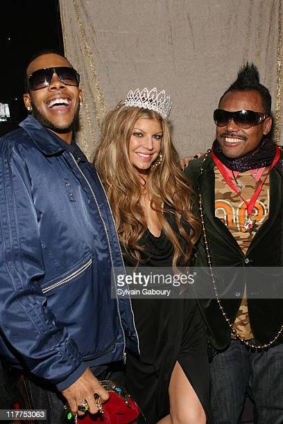 """Mario, Fergie and Apl.De.Ap during Samsung Celebrates Release of the K5MP3 Player and Fergie's Debut Album """"The Dutchess"""" at Tenjune in New York, NY,..."""