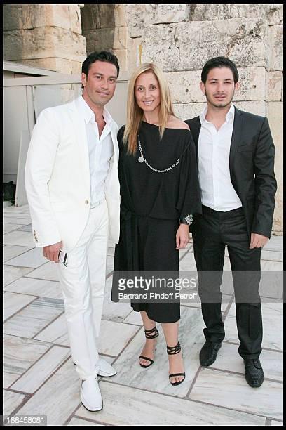 Mario Frangoulis Lara Fabian Georges Perri at Nana Mouskouri's Farewell Concert At Odeon Herodes Atticus In Athens