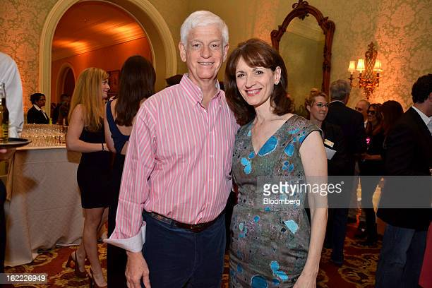 Mario Gabelli, chief executive officer of Gamco Investors Inc., left, and Regina Gabelli attend the eighth annual Everglades Foundation benefit at...