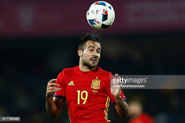 Mario Gaspar of Spain in action during the International Friendly match between Romania and Spain held at the Cluj Arena on March 27 2016 in...