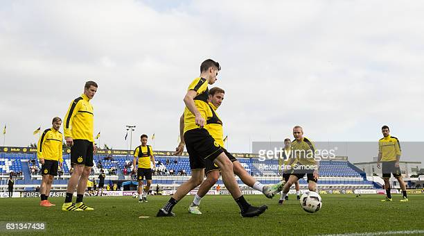 Mario Goetz Sven Bender and Julian Weigl of Borussia Dortmund during the fifth day of the training camp in Marbella on January 09 2017 in Marbella...