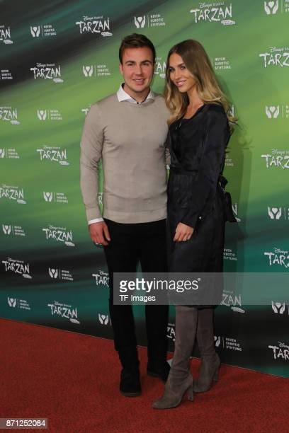 Mario Goetze and AnnKathrin Broemmel attend the anniversary celebration of the musical 'Tarzan at Stage Metronom Theater on November 5 2017 in...