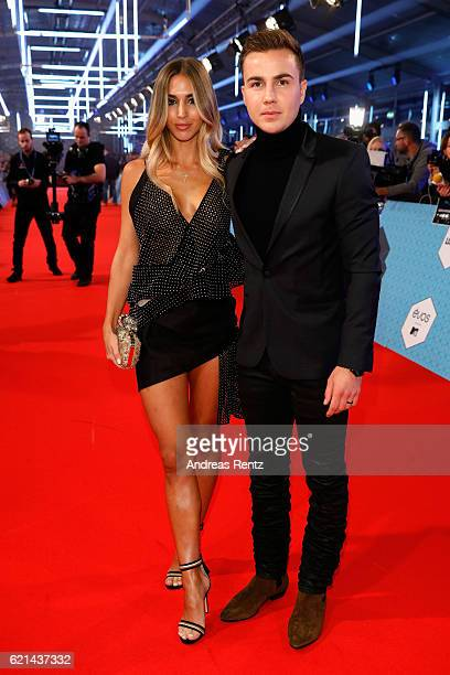 Mario Goetze and AnnKathrin Broemmel attend the MTV Europe Music Awards 2016 on November 6 2016 in Rotterdam Netherlands