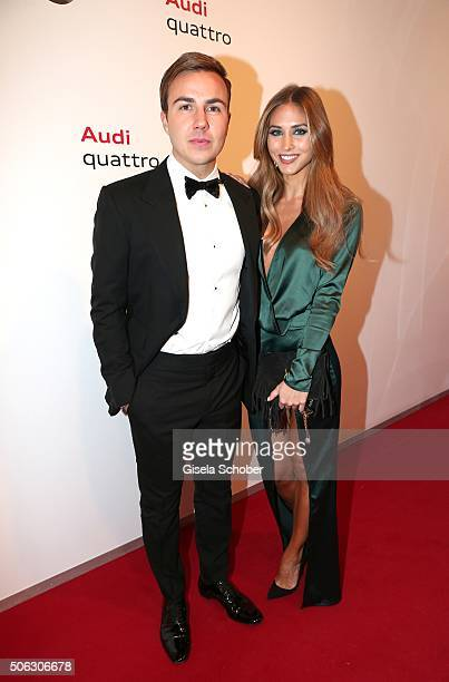 Mario Goetze and his girlfriend AnnKathrin Broemmel attend the AUDI Night 2016 during Hahnenkamm Race Weekend on January 22 2016 in Kitzbuehel Austria