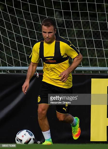 Mario Goetze of Borussia Dortmund during a training session on the training ground of Bad Ragaz during Borussia Dortmund's summer training camp 2016...