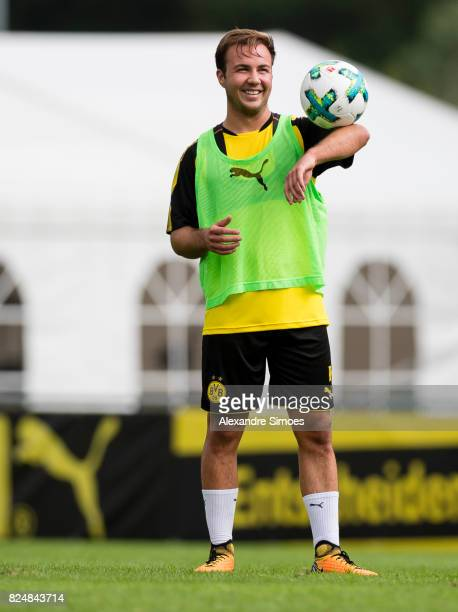 Mario Goetze of Borussia Dortmund in action during a training session as part of the training camp on July 31 2017 in Bad Ragaz Switzerland