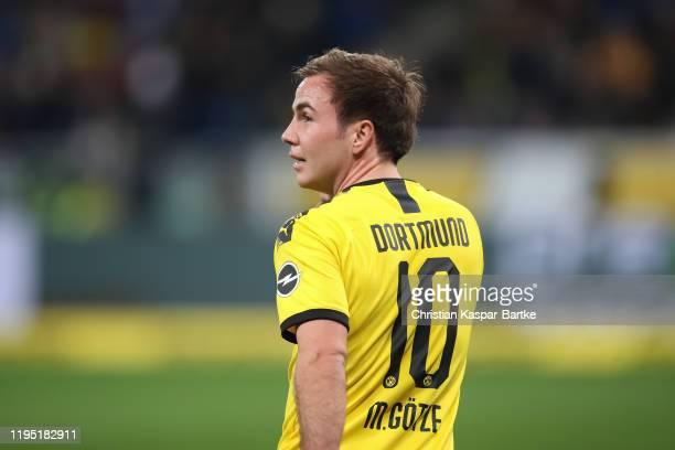 Mario Goetze of Borussia Dortmund looks on during the Bundesliga match between TSG 1899 Hoffenheim and Borussia Dortmund at PreZero-Arena on December...