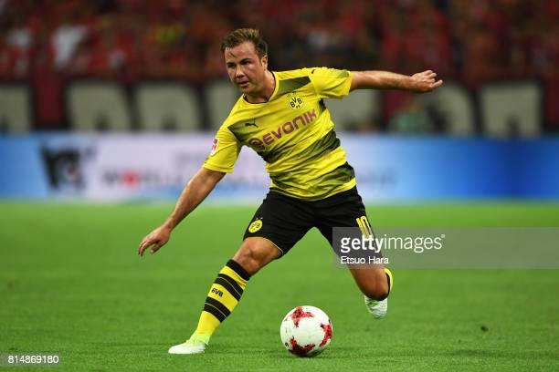 Mario Goetze of Burussia Dortmund in action during the preseason friendly match between Urawa Red Diamonds and Borussia Dortmund at Saitama Stadium...