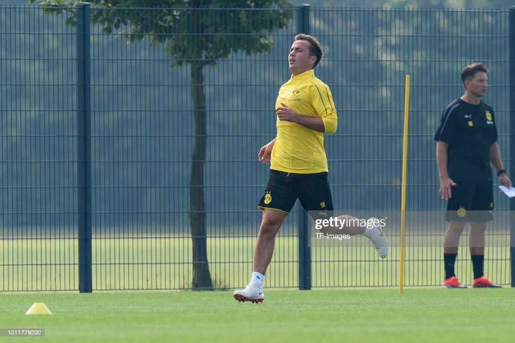 Mario Goetze of Dortmund runs during a training session at BVB training center on July 12, 2018 in Dortmund, Germany.