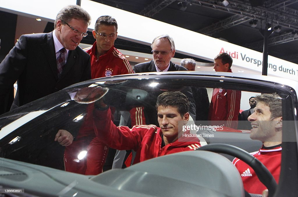 Fc Bayern Munich Team Visit Auto Expo Photos And Images Getty Images