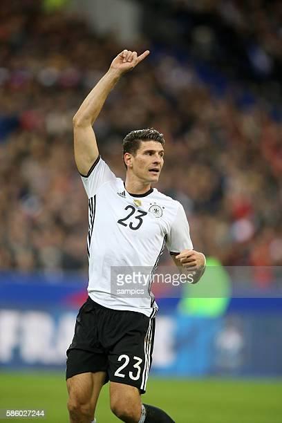Mario Gomez Fussball Freundschaftsspiel : Frankreich - Deutschland Football friendly match national team France Germany