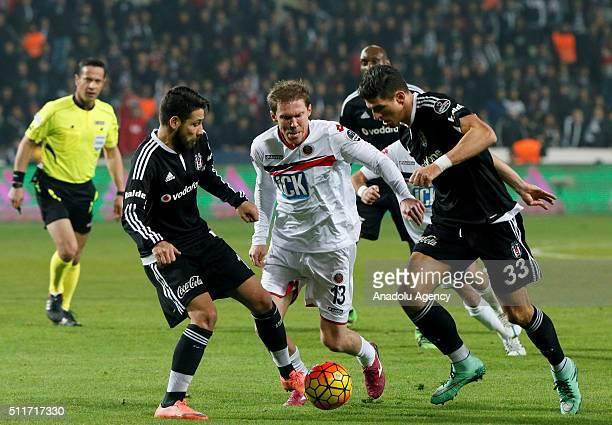 Mario Gomez of Besiktas in action during Turkish Spor Toto Super Lig football match between Besiktas and Genclerbirligi at Basaksehir Fatih Terim...