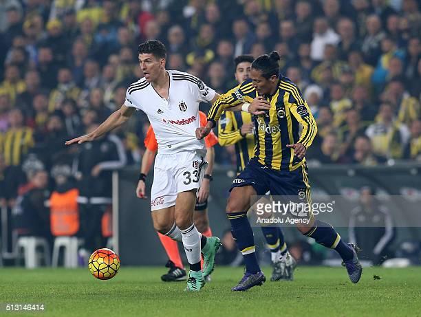 Mario Gomez of Besiktas in action during Turkish Spor Toto Super Lig football match between Fenerbahce and Besiktas at Ulker Stadium in Istanbul...
