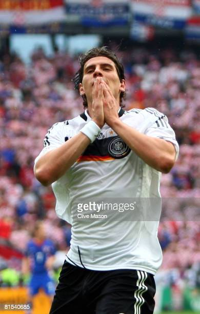 Mario Gomez of Germany reacts during the UEFA EURO 2008 Group B match between Croatia and Germany at Worthersee Stadion on June 12 2008 in Klagenfurt...