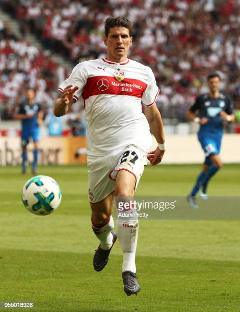 Mario Gomez of VfB Stuttgart in action during the Bundesliga match between VfB Stuttgart and TSG 1899 Hoffenheim at MercedesBenz Arena on May 5 2018...