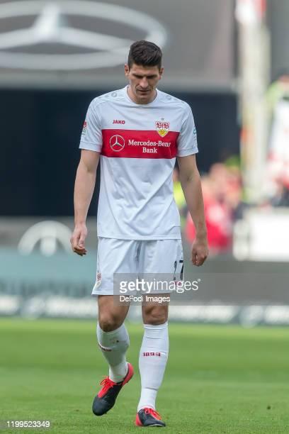 Mario Gomez of VfB Stuttgart looks dejected during the Second Bundesliga match between VfB Stuttgart and FC Erzgebirge Aue at Mercedes-Benz Arena on...