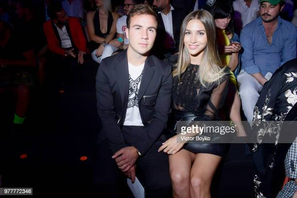 Mario Gotze and AnnKathrin Vida attend Dsquared2 show during Milan Men's Fashion Spring/Summer 2019 on June 17 2018 in Milan Italy