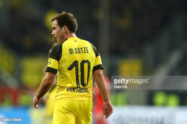 Mario Gotze of Borussia Dortmund looks on during the Bundesliga match between Fortuna Duesseldorf and Borussia Dortmund at EspritArena on December 18...