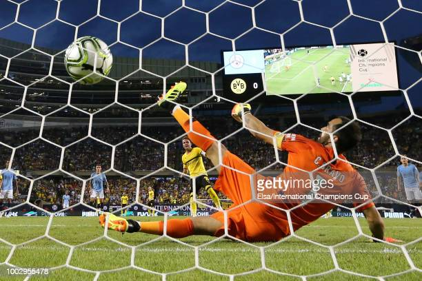 Manchester City's Eric Garcia in action at Soldier Field on July 20 2018 in Chicago Illinois