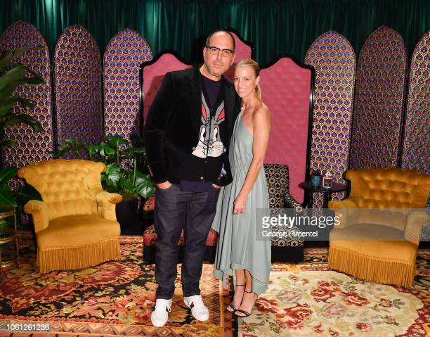 Mario Grauso President of Holt Renfrew and Susan Chokachi President and CEO of Gucci America attend the launch of the Gucci Décor installation at...