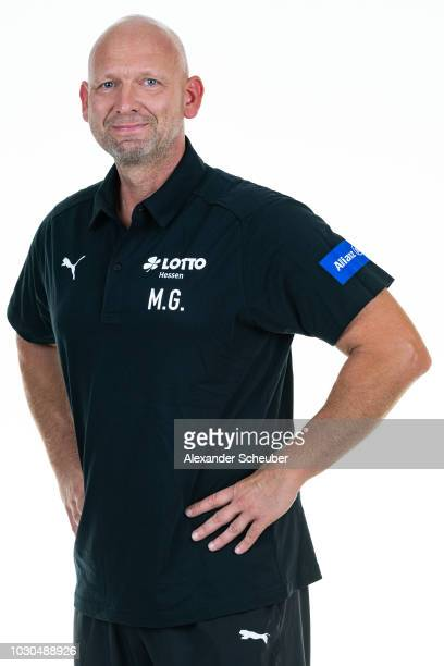 Mario Gros poses during the 1 FFC Frankfurt Women's team presentation on September 7 2018 in Frankfurt am Main Germany