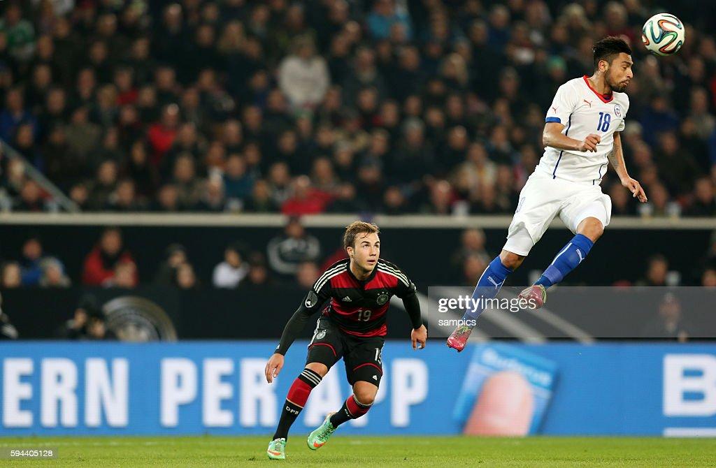 Mario Götze Goetze Deutschland Germany Gegen Gonzalo Jara Chile News Photo Getty Images