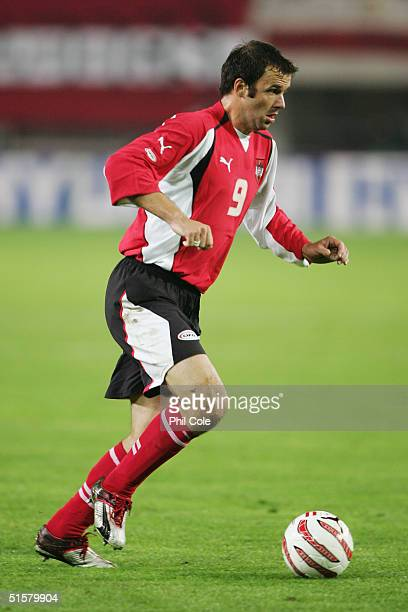 Mario Haas of Austria in action during the the Group 6 World Cup Qualifying match between Austria and Poland at the Ernest Happel Stadium on October...