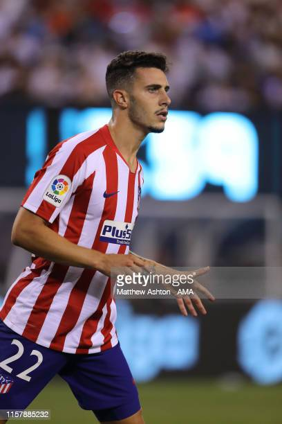 Mario Hermoso of Atletico Madrid during the 2019 International Champions Cup match between Real Madrid and Atletico de Madrid at MetLife Stadium on...