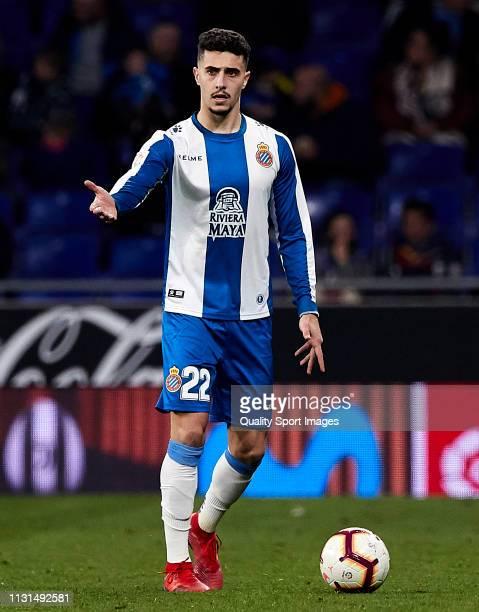 Mario Hermoso of RCD Espanyol during the La Liga match between RCD Espanyol and SD Huesca at RCDE Stadium on February 22 2019 in Barcelona Spain