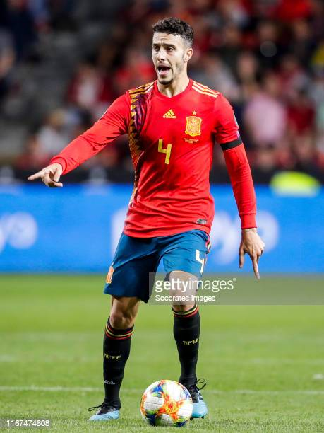Mario Hermoso of Spain during the EURO Qualifier match between Spain v Faroe Islands at the El Molinon on September 8 2019 in Gijon Spain