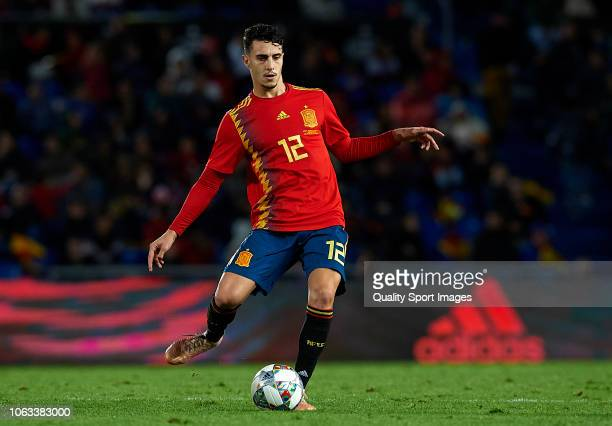 Mario Hermoso of Spain in action during the international friendly match between Spain and Bosnia Herzegovina at Estadio de Gran Canaria on November...