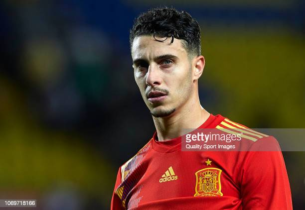 Mario Hermoso of Spain looks on during the international friendly match between Spain and Bosnia Herzegovina at Estadio de Gran Canaria on November...