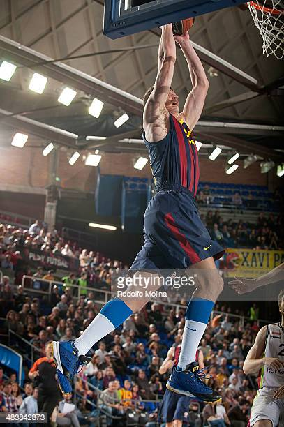 Mario Hezonja #23 of FC Barcelona in action during the 20132014 Turkish Airlines Euroleague Top 16 Date 14 game between FC Barcelona Regal v Laboral...