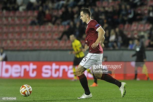 Mario Holek of AC Sparta Praha in action during the UEFA Europa League Group I match between AC Sparta Praha and BSC Young Boys at the Stadion Letna...