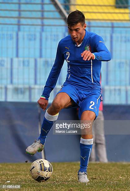 Mario Ierardi of Italy in action during the U18 international friendly match between Italy and Switzerland on March 9 2016 in Lecco Italy