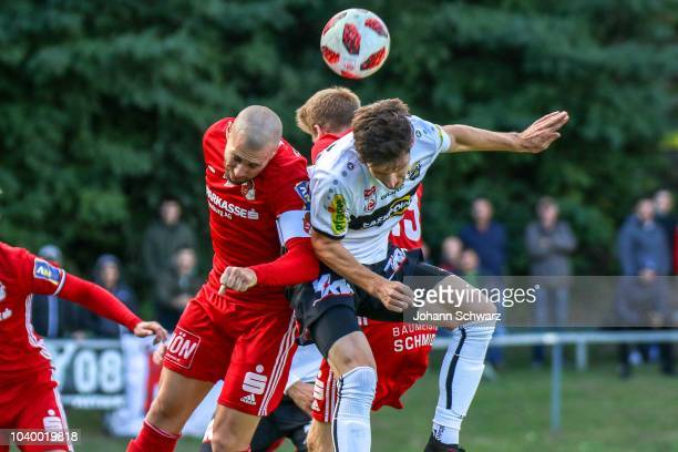 Christian Gebauer Andreas Lienhart Joshua Gatt and Simon Piesinger of Altach celebrate after the winning the UNIQA OeFB Cup second round match...