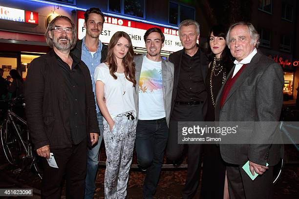 Mario Krebs Max von Thun Alice Dwyer Fabian Feder Ernst Ludwig Ganzert Lucia Staubach and Michael Verhoeven attend the 'Let's Go' premiere as part of...