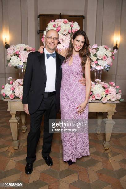 Mario La Torre and Janet De Nardis attends the wedding of Earl Vittorio Palazzi Trivelli And Isabelle Adriani on February 22 2020 in Rome Italy