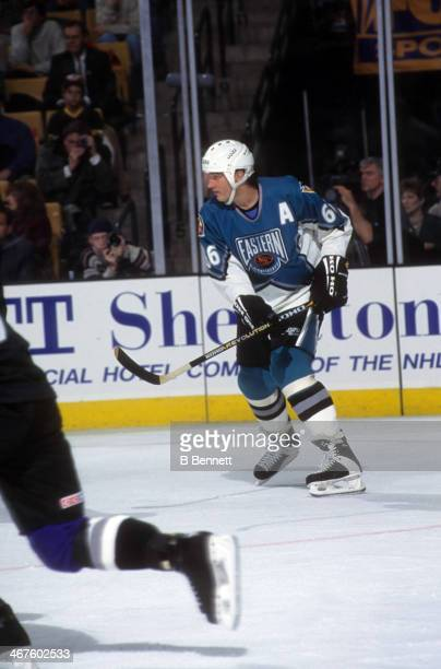 Mario Lemieux of the Eastern Conference and Pittsburgh Penguins skates on the ice during the 1996 46th NHL AllStar Game against the Western...