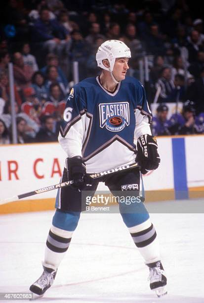 Mario Lemieux of the Eastern Conference and Pittsburgh Penguins skates on the ice during the 1996 46th NHL All-Star Game against the Western...