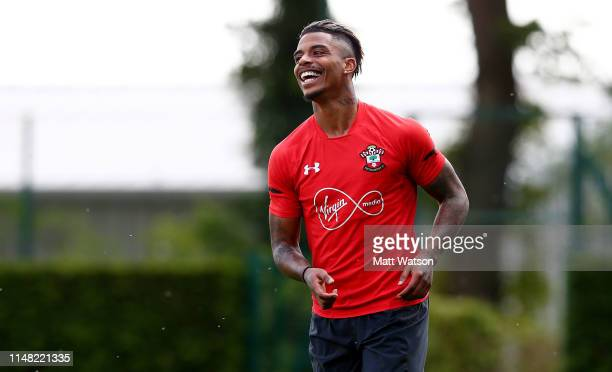 Mario Lemina during a Southampton FC training session at the Staplewood Campus on May 10 2019 in Southampton England