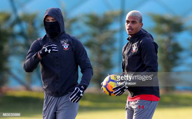 Mario Lemina during a Southampton FC training session at the Staplewood Campus on December 1 2017 in Southampton England