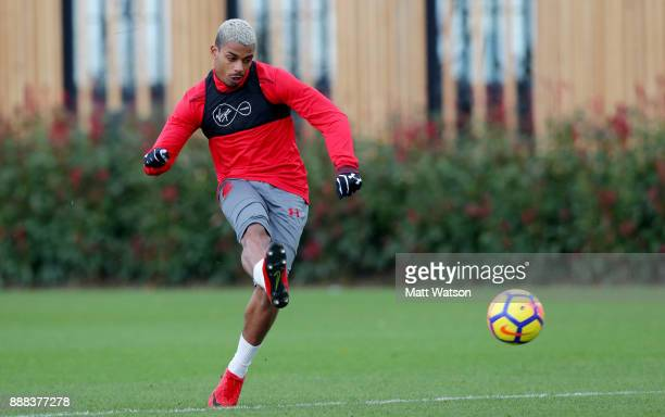 Mario Lemina during a Southampton FC training session at the Staplewood Campus on December 8 2017 in Southampton England