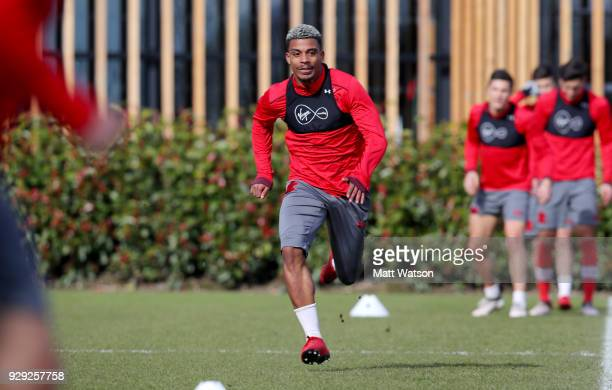 Mario Lemina during a Southampton FC training session at the Staplewood Campus on March 8 2018 in Southampton England