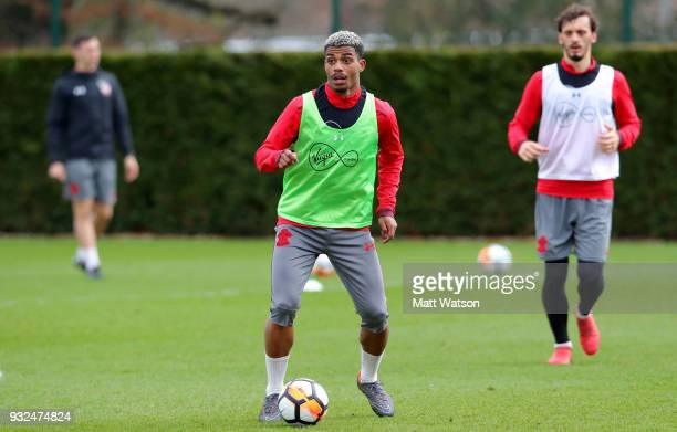 Mario Lemina during a Southampton FC training session at the Staplewood Campus on March 15 2018 in Southampton England