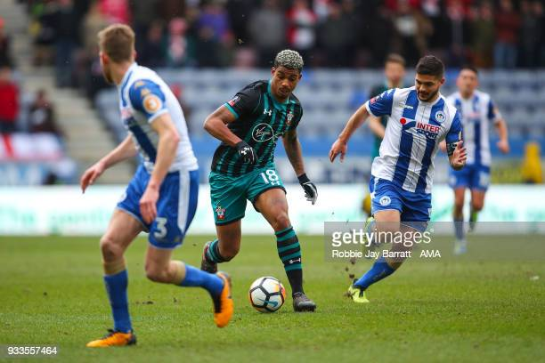 Mario Lemina of Southampton during The Emirates FA Cup Quarter Final match at DW Stadium on March 18 2018 in Wigan England