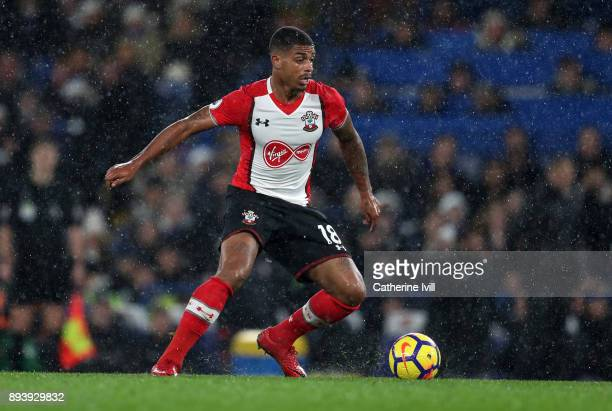 Mario Lemina of Southampton during the Premier League match between Chelsea and Southampton at Stamford Bridge on December 16 2017 in London England