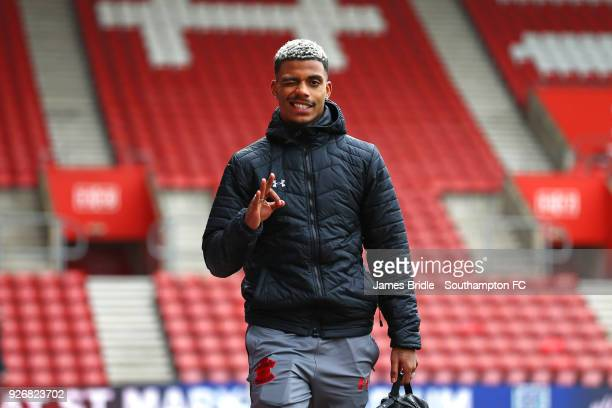 Mario Lemina of Southampton FC ahead of the Premier League match between Southampton and Stoke City at St Mary's Stadium on March 3 2018 in...