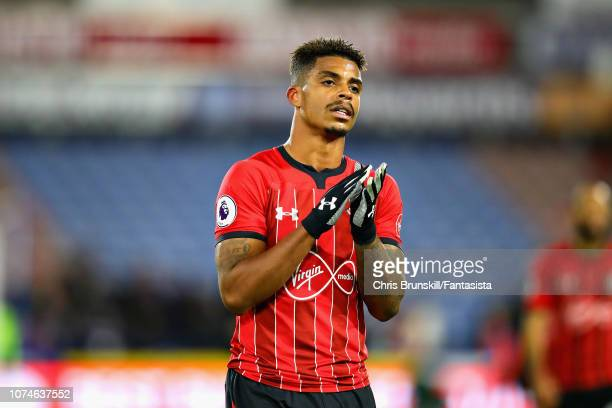 Mario Lemina of Southampton FC applauds the crowd after the Premier League match between Huddersfield Town and Southampton FC at John Smith's Stadium...