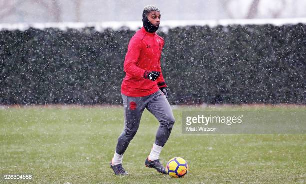 Mario Lemina of Southampton FC during a training session at the Staplewood Campus on March 2 2018 in Southampton England